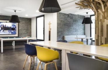 Espace détente - aménagement - cléram - davidson - architecte - bureaux