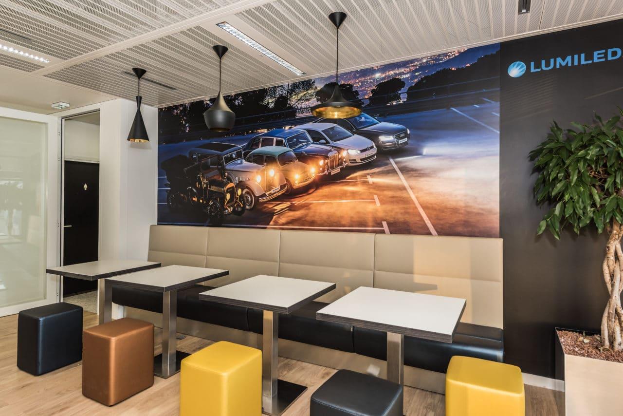 Cafeteria espace detente siege social lumileds