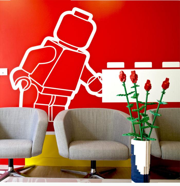 Réalisation du mobilier pour Lego